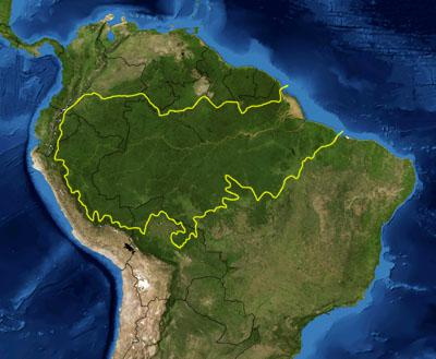 map of amazon rainforest